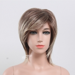 13 inch mix blonde straight wig for kids short synthetic wig