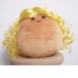 Kinky curly yellow doll