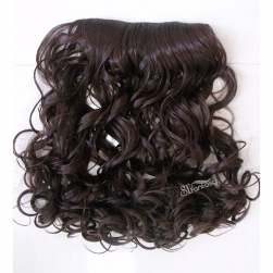 ST dark brown synthetic hair extension super wave hair weaving