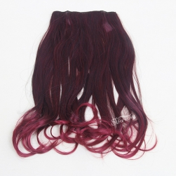 Wholesale long curly ombre red synthetic hair extension