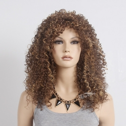 Long kinky curly afro wig for african american women