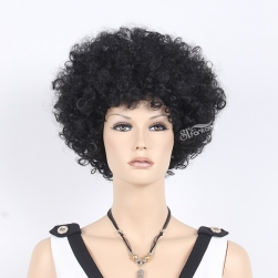 13.5 inch 1B color short curly wig for black women