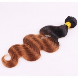 14 inch body wave ombre hair extension human hair
