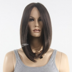 Afor short bob wigs lace front wigs for black women with long bang
