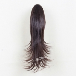 Wholesale 50cm brown natural wave synthetic hair ponytail extensions