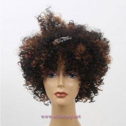 ST 2017 new coming full hand style curly short afro wig for party and football fans