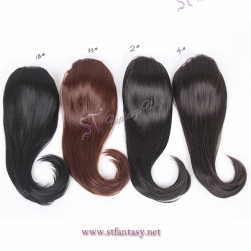 Low price many colors hairpiece black women synthetic clip in ponytails