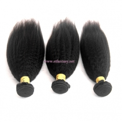 Fantasywig 8-30inch Kinky Straight 100% Peruvian Human Hair Extension Of Black Women