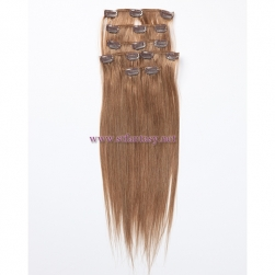 Full Hand Made 100 Indian Human Hair In Stock 8inch 30inch 7 Pieces Long Clip In Hair Extension